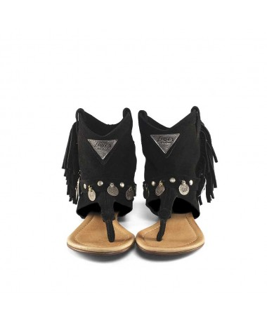 WEST SANDAL BLACK BOHO