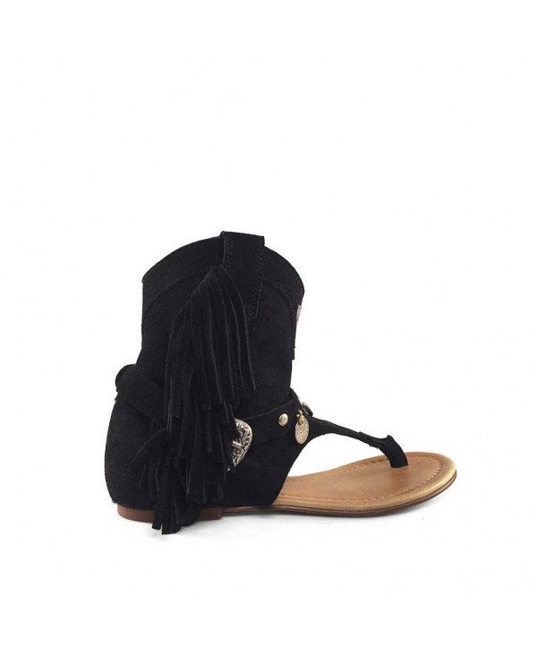 WEST SANDAL BLACK BOHO BASIC